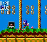 Sonic the Hedgehog Chaos Game Gear Sonic Chaos Ingame