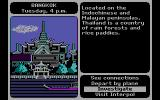 Where in the World is Carmen Sandiego? DOS Bangkok main screen