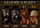 Metal Slug 3 PlayStation 2 Character selection.