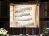 Mystery Case Files: Dire Grove Macintosh 2nd Floor Library - reading from bookshelf
