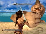 Xena: Warrior Princess PlayStation Facing a cyclops