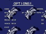 Mighty Morphin Power Rangers: The Movie Genesis Options screen