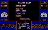Motorbike Madness DOS Pick a course to ride