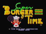 Super Burger Time Zeebo Title screen.
