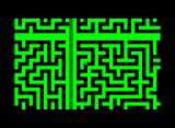 M-Maze Commodore PET/CBM The top, is actually the bottom of the maze and the left half the right end of the maze