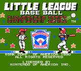 Little League Baseball Championship Series NES Title Screen
