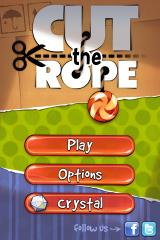 Cut the Rope iPhone Title screen and main menu