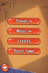 Cut the Rope iPhone Options menu