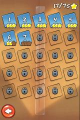 Cut the Rope iPhone The level select screen
