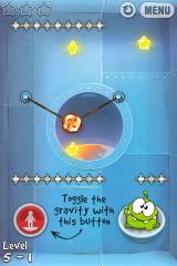 Cut the Rope iPhone Level 5-1, toggle the gravity with the button, the view in the window will tumble like a washing machine