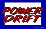 Power Drift DOS Title screen