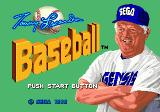Tommy Lasorda Baseball Genesis Title Screen