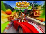 Crash Bandicoot Nitro Kart 3D Zeebo Title screen.