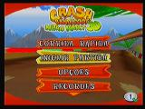 Crash Bandicoot Nitro Kart 3D Zeebo Main menu.