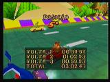 Crash Bandicoot Nitro Kart 3D Zeebo Race results. You get times for all laps and the total. Arriving at 5th isn't exactly a good result...