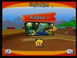 Crash Bandicoot Nitro Kart 3D Zeebo The mission mode. Beating one mission unlocks the next. Each mission has its own objective and character to be played with.