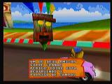 Crash Bandicoot Nitro Kart 3D Zeebo Here's the mission objective. In this one Coco has to cross the line before Oxide does.