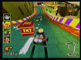 Crash Bandicoot Nitro Kart 3D Zeebo Racing a cup with Cortex. Hitting those TNT crates will slow you down a lot.