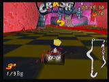 Crash Bandicoot Nitro Kart 3D Zeebo At each track the letters C R A S H are scattered around to be collected.