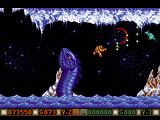 Blood Money Amiga Planet 3, beautiful water and enemy animations