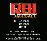R.B.I. Baseball NES Main Menu