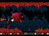 Blood Money Amiga Planet 4, the fourth planetary guardian, destroy all six bubble shooting pipes