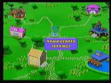 Disney's All Star Cards Zeebo The main screen is displayed like a little town. Each house leads to a game and the town center leads to the main menu.