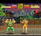 Fatal Fury SNES I didn't know the Hulk had a grandpa. At some point during the fight the old Tung Fu Rue suddenly changes into a muscular brute!