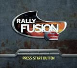 Rally Fusion: Race of Champions PlayStation 2 Title screen.