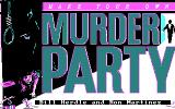 Make Your Own Murder Party DOS Title screen