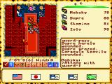Ultima VI: The False Prophet FM Towns The initial fight against the gargoyles in Lord British's throne room