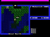 Ultima IV: Quest of the Avatar FM Towns Near Moonglow, on the world map