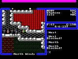 Ultima V: Warriors of Destiny FM Towns Exploring the roof of Lord British's castle