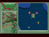Emerald Dragon FM Towns Boss battle against a rather out-of-place character...
