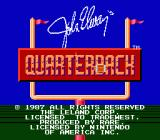 John Elway's Quarterback NES Title Screen
