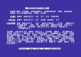 Africa Gardens Commodore 64 The game then gives a summary of the commands and some tasks / objectives