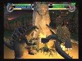 Godzilla: Destroy All Monsters Melee GameCube Fire Breath fells Anguirus