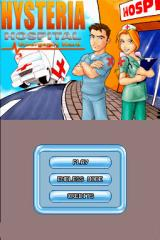 Hysteria Hospital: Emergency Ward Nintendo DS Main menu