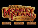 Monkey Island 2: LeChuck's Revenge FM Towns Title screen. Play in English or in Japanese