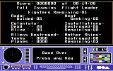 Skyfox Commodore 64 Game over