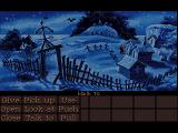Monkey Island 2: LeChuck's Revenge FM Towns Graveyard. The FM Towns version has spooky digitized sound effects here