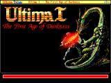 Ultima Trilogy: I ♦ II ♦ III FM Towns Ultima I: title