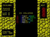 ZX Columns ZX Spectrum The game's main menu. The text cycles through a pallette of changing colours