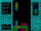 ZX Columns ZX Spectrum The background colour changes as the player progresses through the levels. This is level 1