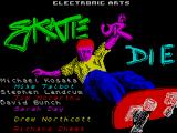 Skate or Die ZX Spectrum The game's title screen