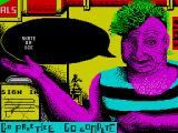 Skate or Die ZX Spectrum This is the main menu screen. Here the player can either practice or compete