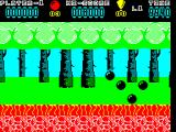Hoppin' Mad ZX Spectrum The start of level 1. The balls move right to left across the screen