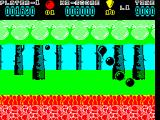 Hoppin' Mad ZX Spectrum Ten balloons and the level ends immediately. All remaining time is transferred over to the players score, so because the player had just lost a life they score an additional 9000+ bonus