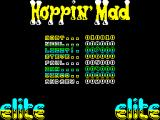 Hoppin' Mad ZX Spectrum I like a game that has low entries on its high score table