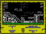 Wizard Willy ZX Spectrum The game starts here. This is the very beginning of level 1